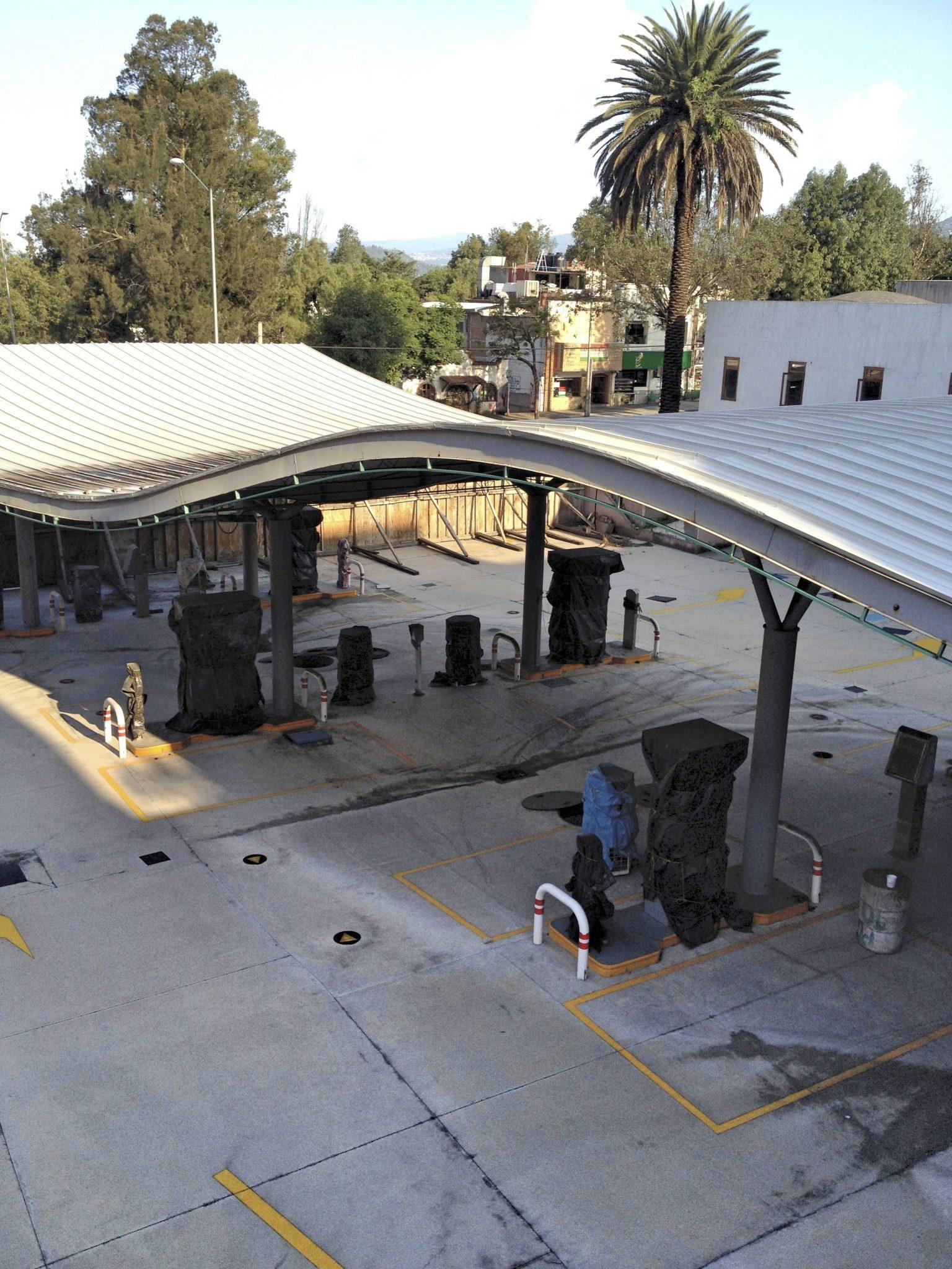 Gasolinera ilegal en Tlalpan, Distrito Federal. Foto: Especial