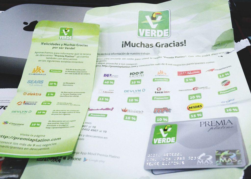 """La """"Premia Platino"""", del Partido Verde."""