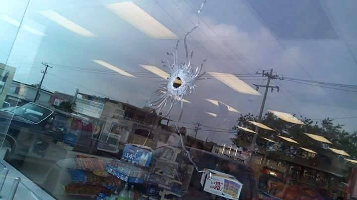 Balazo en establecimiento de Reynosa Tamaulipas. Foto: Facebook
