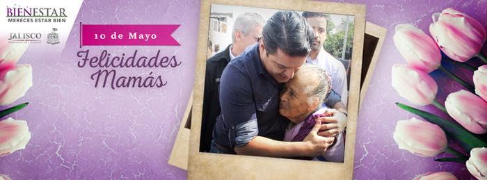 Postal de Facebook del Gobernador de Jalisco, Aristóteles Sandoval Díaz, felicitando a las mámas.