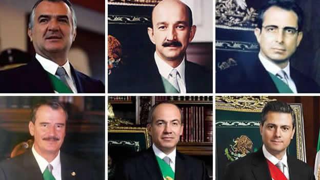 Los presidentes desde la época en que se implantó el neoliberalismo. Foto: Internet