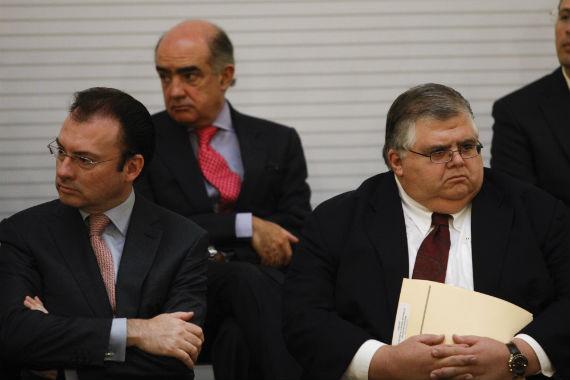 El gobernador del Banco de México, Agustín Carstens y el secretario de Economía, Luis Videgaray. Foto: Internet