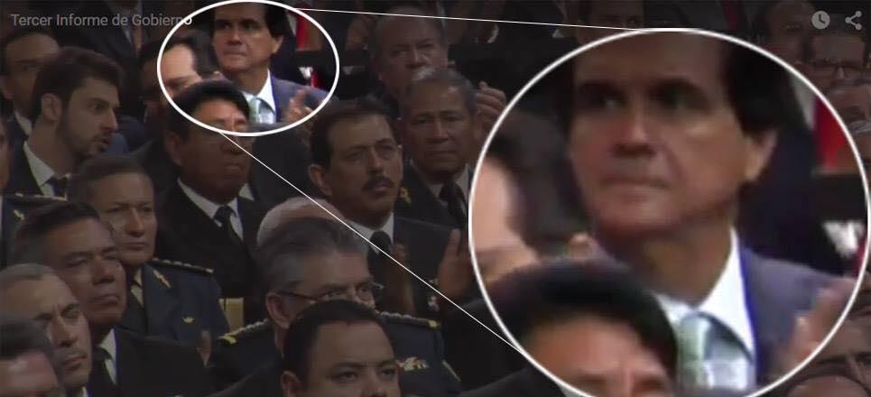 Juan Armando Hinojosa Cantú, el empresario que construyó la #CasaBlanca, fue uno de los invitados especiales en el tercer informe de Peña Nieto.