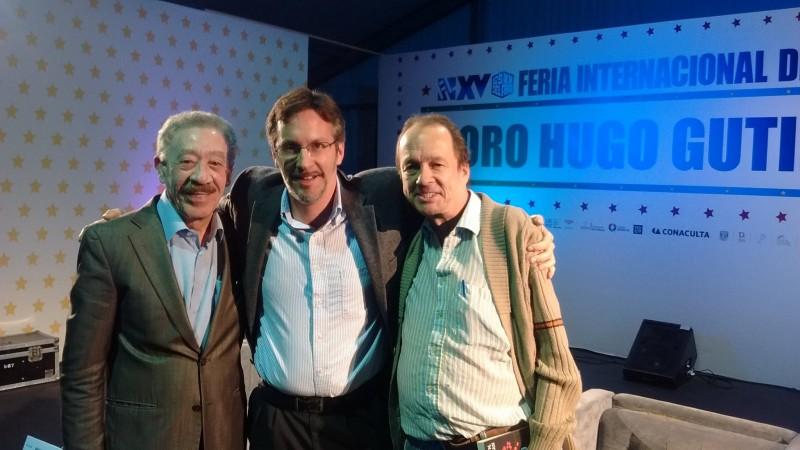 Héctor Díaz Polanco, John Ackerman y Jaime Avilés en la Feria del Libro del Zócalo. Foto: Facebook