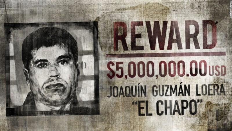 """Recompensa ofrecida por Joaquín """"El Chapo"""" Guzmán. Foto: Internet"""