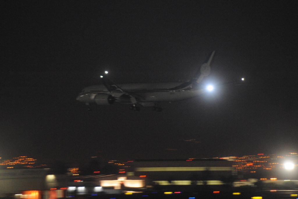 Llegada del nuevo avión presidencial a la Ciudad de México. Foto: Cuartoscuro