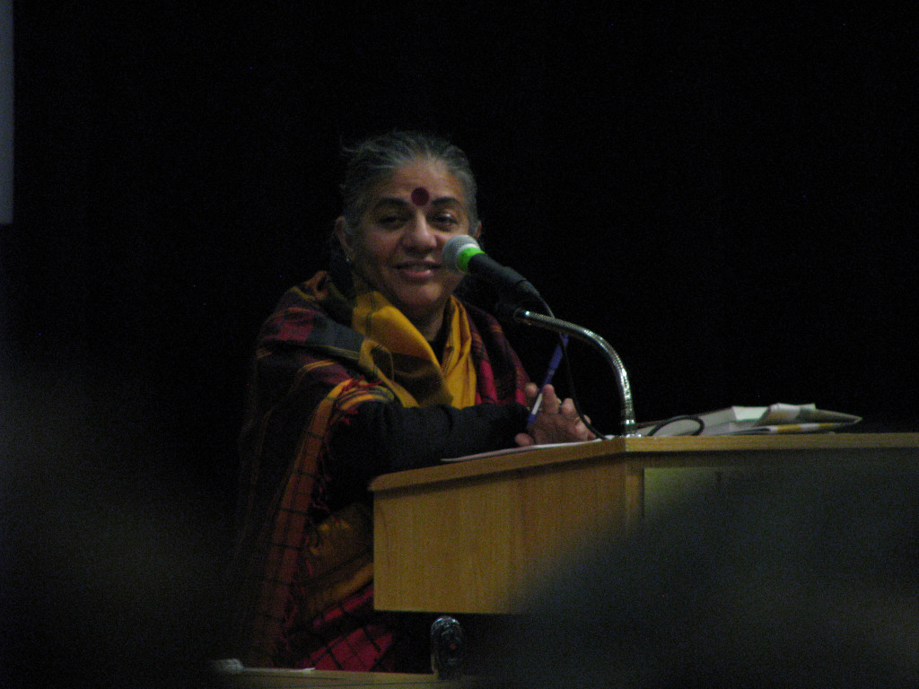 La doctora Vandana Shiva. Foto: saskboy/Flickr