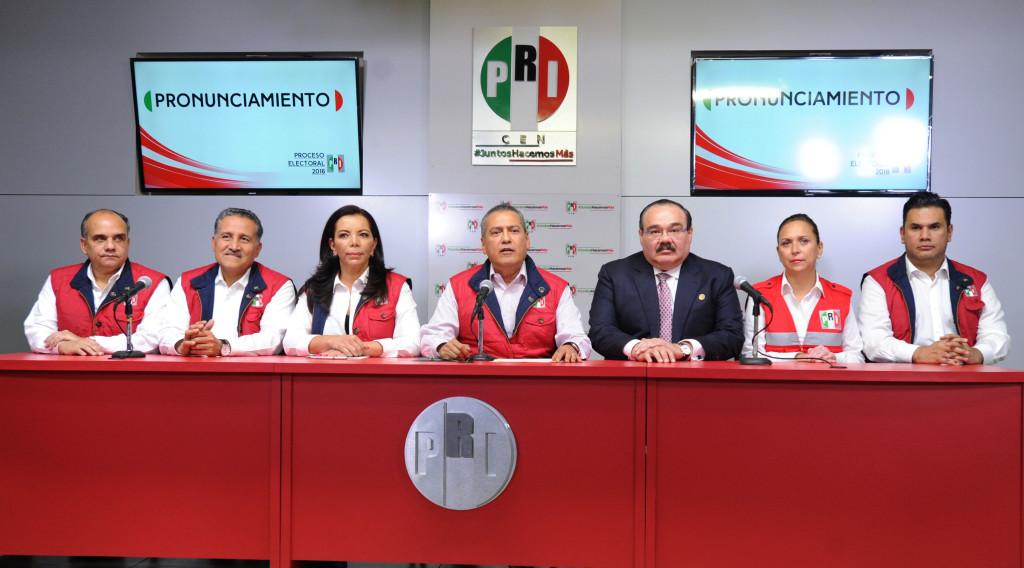 Manlio Fabio Beltrones y la plana mayor del PRI, los derrotados en las elecciones de 2016