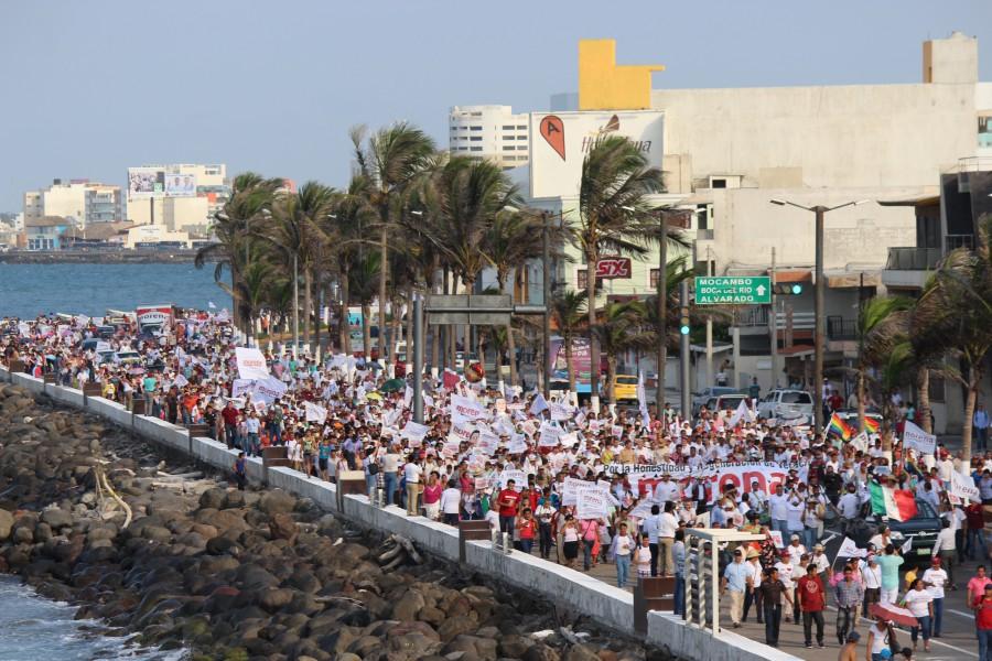 Simpatizantes de Morena en Veracruz. Foto: amlo.org