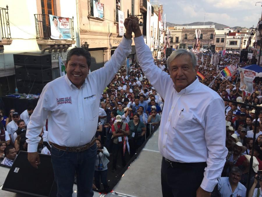 David Monreal, candidato de Morena en Zacatecas y AMLO. Foto: amlo.org