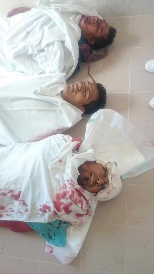 Jóvenes asesinados en Nochixtlán, Oaxaca. Foto: Internet
