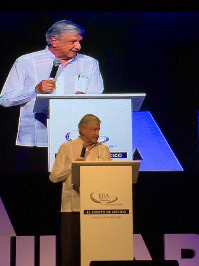 AMLO en el evento ERA, organizado en Acapulco. Foto: Especial