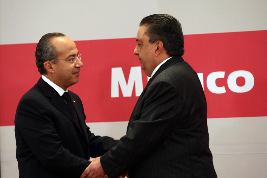 Felipe Calderón y Fernando Gómez Mont. Foto: Especial