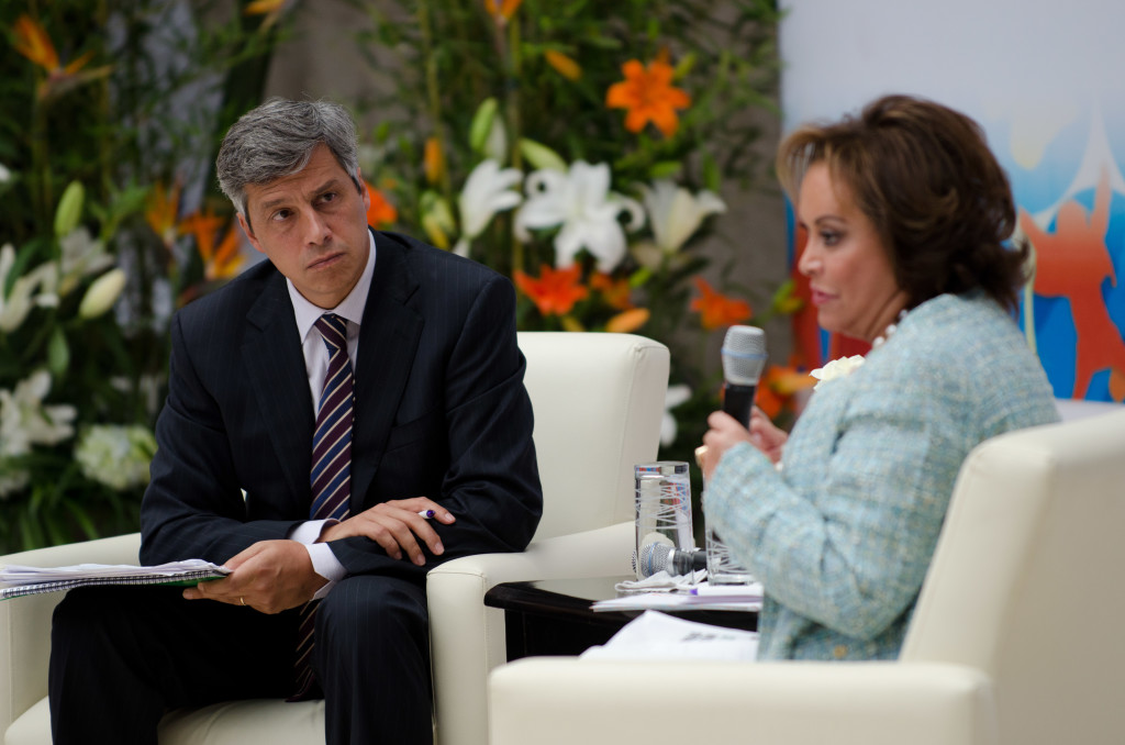 Claudio X. Gonzalez, presidente de la Asociación Mexicanos Primero y Elba Esther Gordillo. Foto: Cuartoscuro
