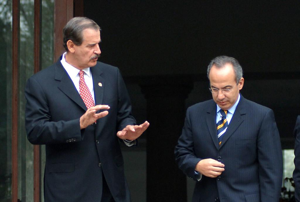 Vicente Fox y Felipe Calderón.