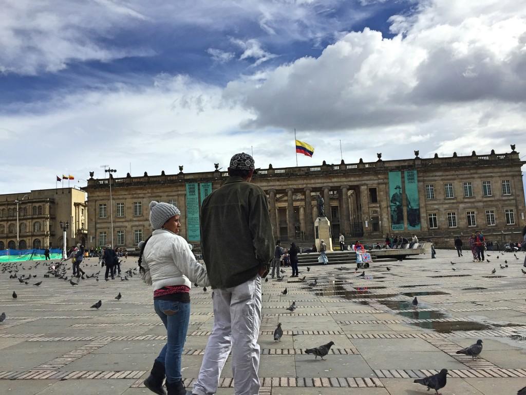 Plaza principal de Bogotá. Foto: César Octavio Huerta
