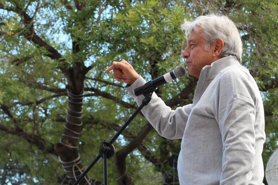 Andrés Manuel López Obrador en Matamoros, Tamaulipas. Foto: Especial
