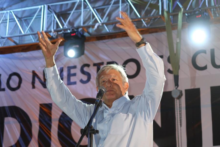 Andrés Manuel López Obrador en San Luis Potosí. Foto: Especial