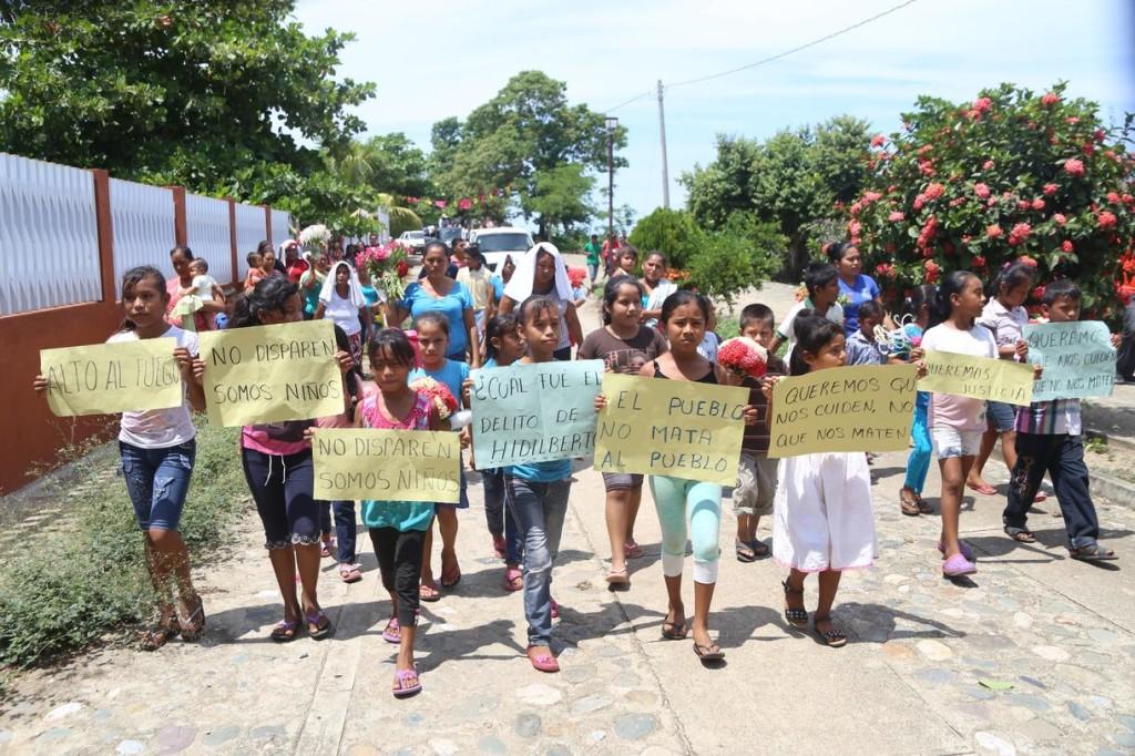 Manifestación por la muerte de Hildeberto Reyes García. Foto: Vice.com