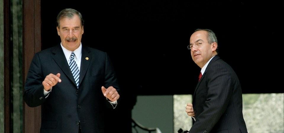 Vicente Fox, Quesada y Felipe Calderó—n. Foto: Agencia Cuartoscuro