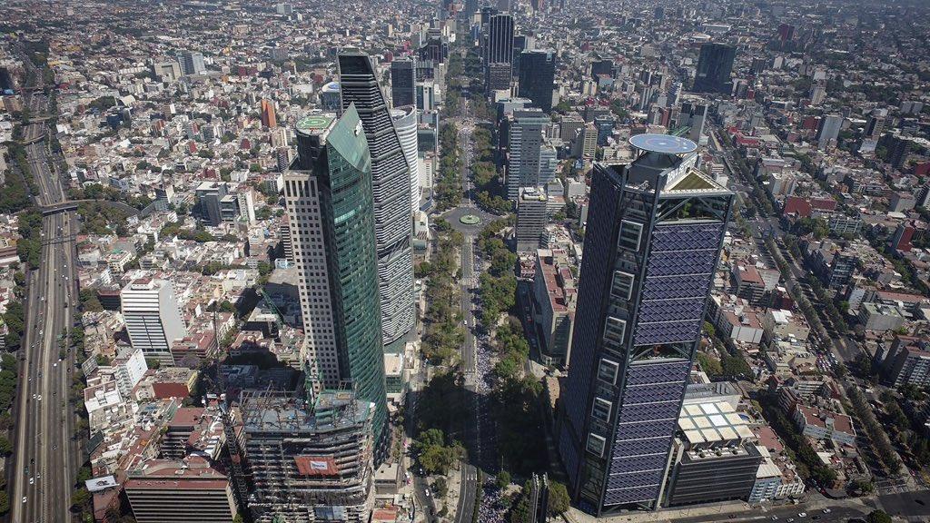 Las calles vacías en la Ciudad de México. La marcha #VibraMéxico fue un fiasco.
