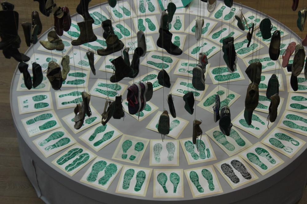 Exposición de Huellas de la memoria en Alemania. Foto: Especial