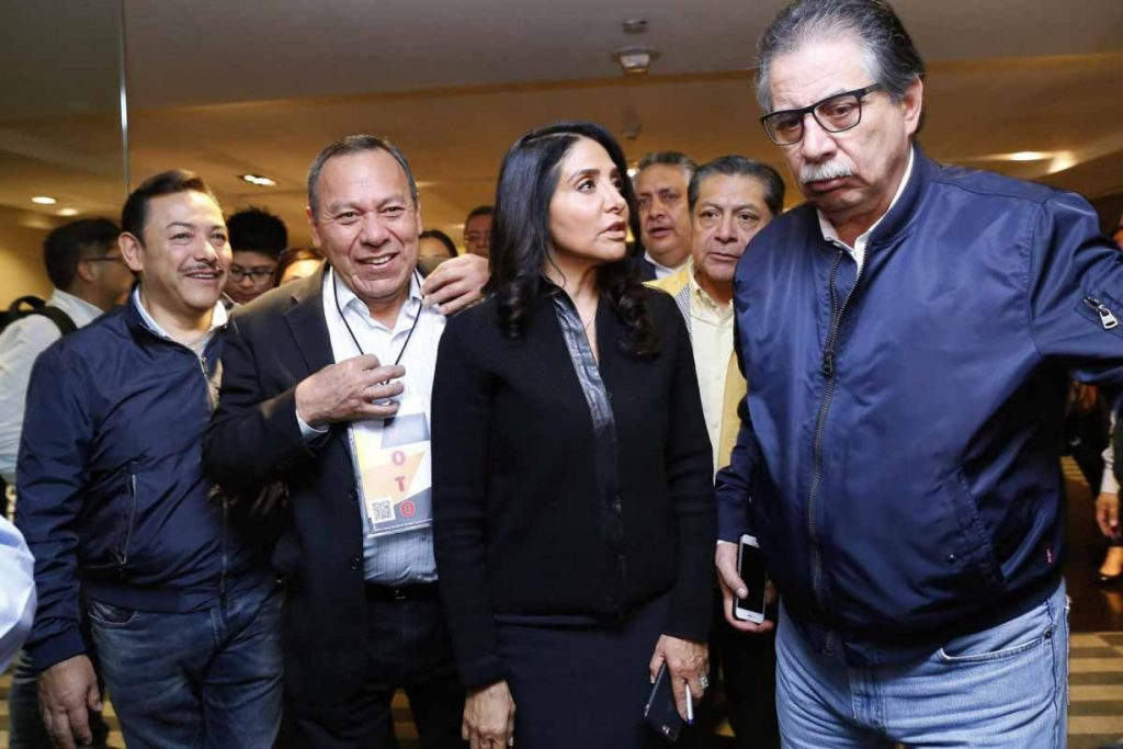 Jesús Zambrano, Alejandra Barrales y Jesús Ortega. Foto ...