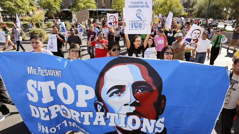 Protestas en contra de las deportaciones de Obama.