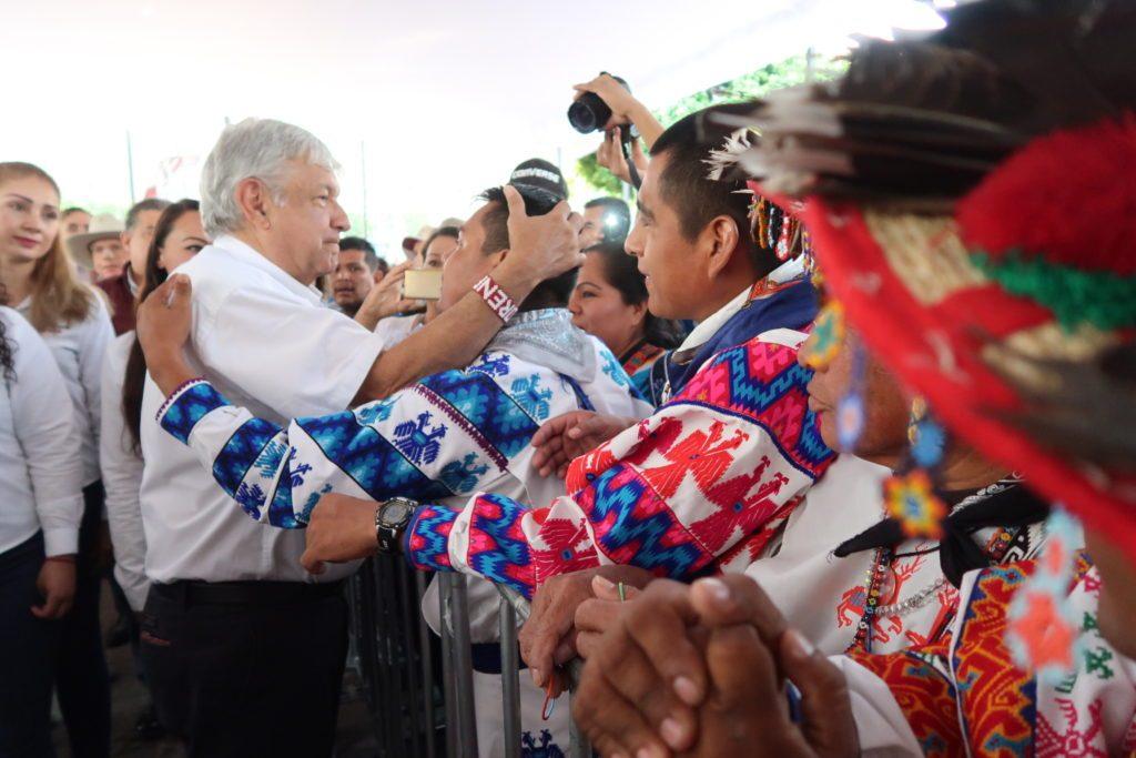 Andrés Manuel López Obrador, en una visita a Tequila, en Jalisco.