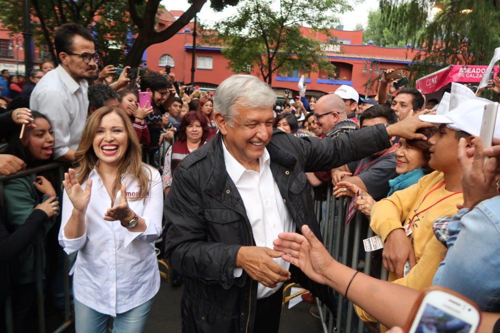 Andrés Manuel López Obrador, en un mitin en la Ciudad de México. Foto: Especial.