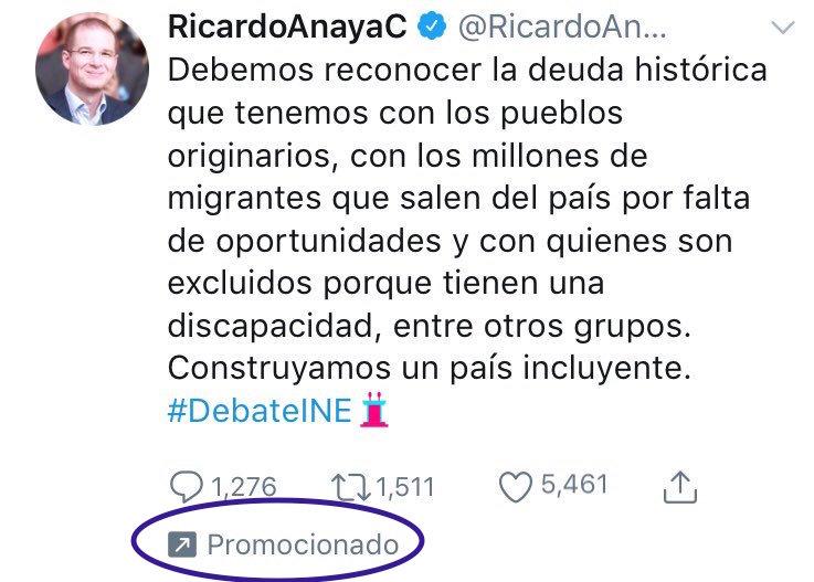 Ejemplo de publicidad de Ricardo Anaya en Twitter.