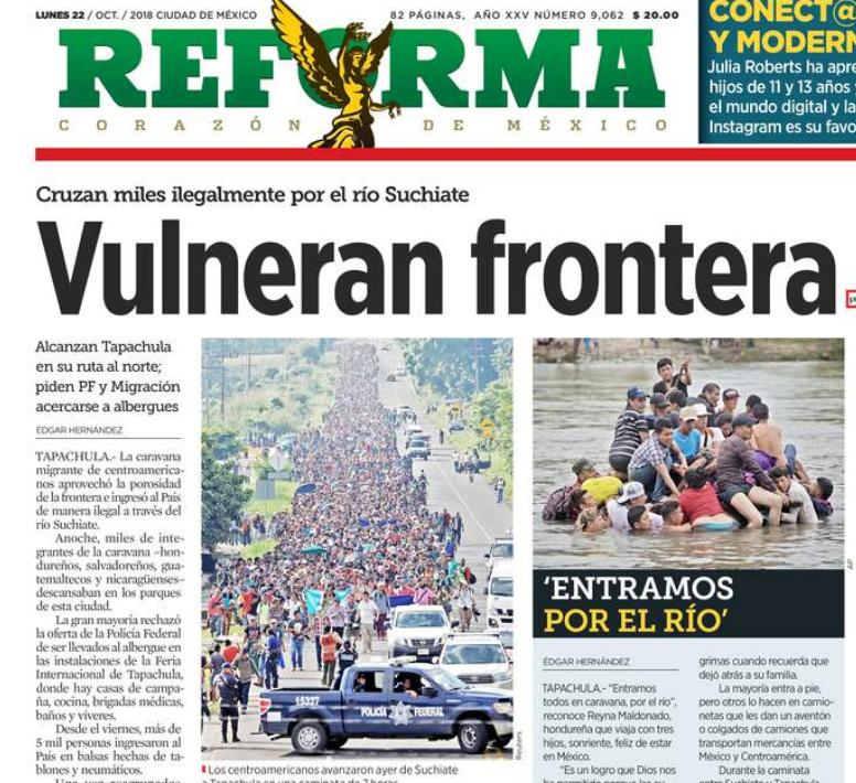 Portada diario Reforma